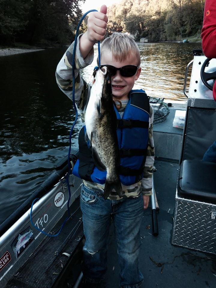 Fishing Report 9/20/2015 - The Kings are here! - Muskegon River Fly Shop